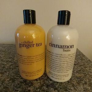 NWT.  BOTH.  Philosophy Shower/Bath Products